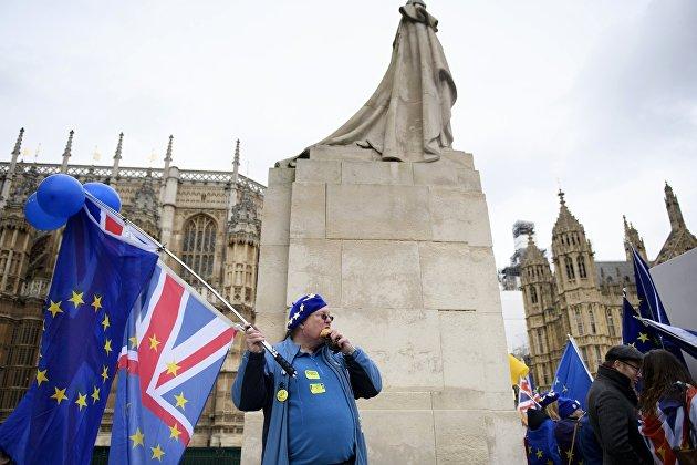 Акция противников и сторонников Brexit в Лондоне