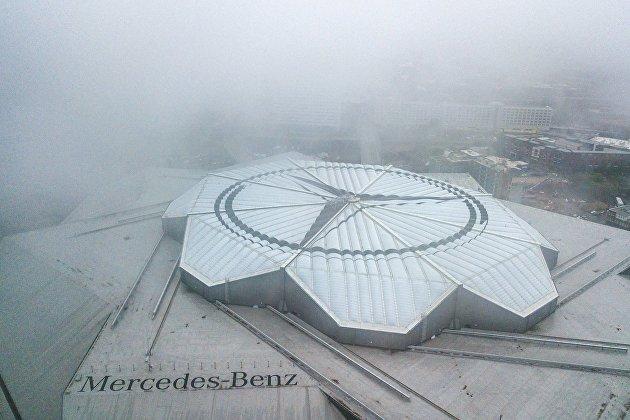 Стадион Mercedes-Benz Stadium в Атланте штата Джорджия