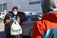 Работа службы доставки продуктов Igooods во время коронавируса