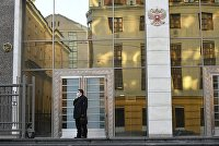 У входа в здание Совета Федерации РФ