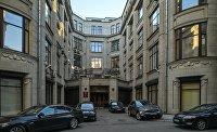 Здание Министерства труда и социальной защиты РФ в Москве.