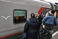 """Поезд """"Таврия"""" отправился из Санкт-Петербурга в Крым"""