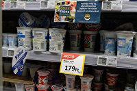 Молочная продукция в магазине Tesco в Будапеште