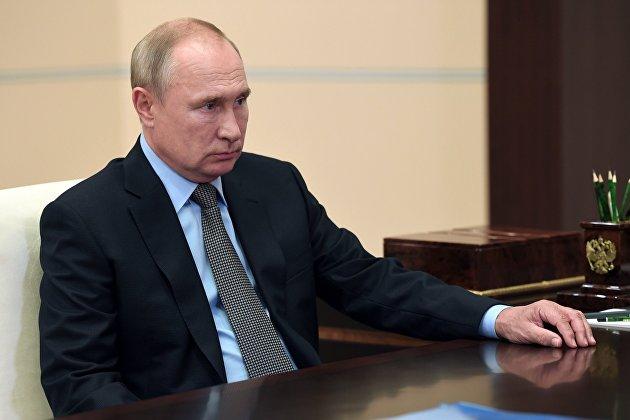 Президент РФ В. Путин провел встречу с директором ФССП Д. Аристовым