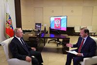 Президент РФ В. Путин дал большое интервью по актуальным темам