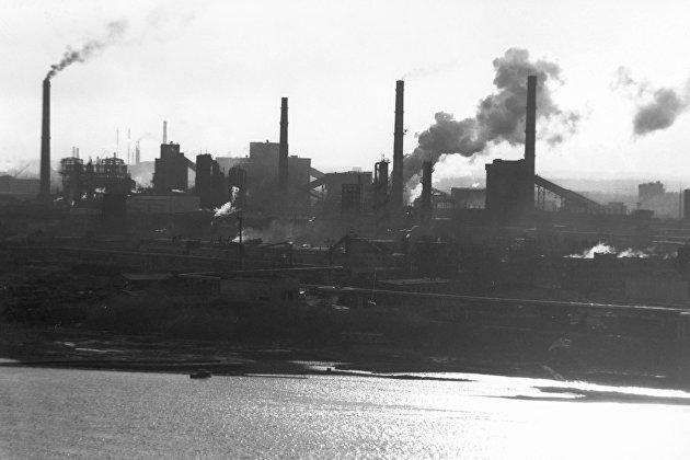 Промышленная панорама города Кемерово.