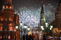 """"""" Празднование Нового года в Москве"""