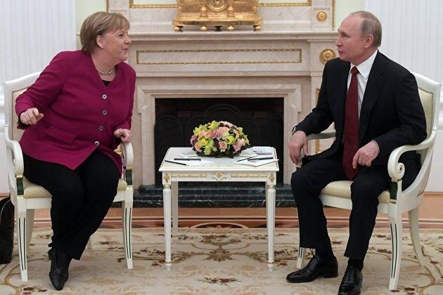 832750466 - Путин и Меркель обсудили перспективы совместного производства вакцины