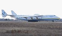 Грузовой самолет Ан-225-Мрия на летном поле аэродрома в поселке Гостомель под Киевом.