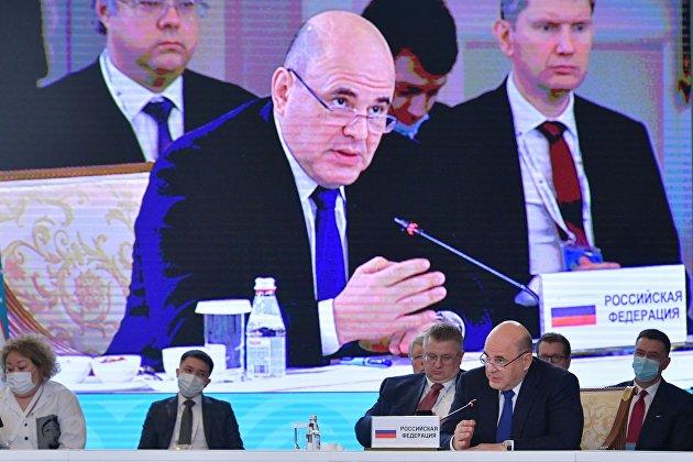 Премьер-министр РФ М. Мишустин принял участие в заседании Евразийского межправительственного совета стран ЕАЭС