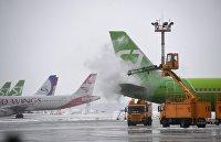 Работа аэродромных служб в аэропорту Домодедово