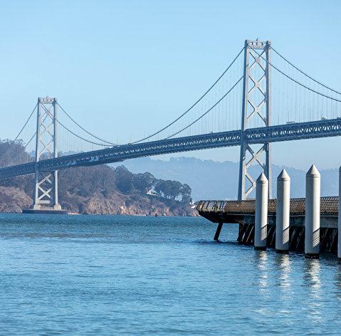 Города мира. Сан-Франциско. Мост Золотые Ворота в Сан-Франциско