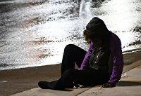 Бездомный на улице