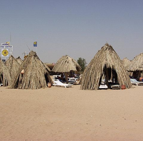 Пляж курорта Хургада в Египте