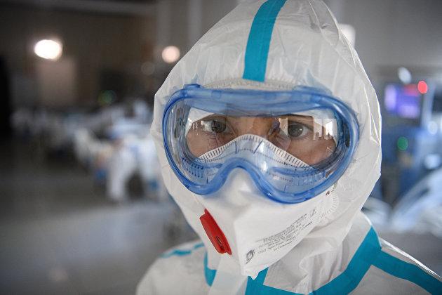Лечение больных с COVID-19 в резервном госпитале в АТЦ'Москва